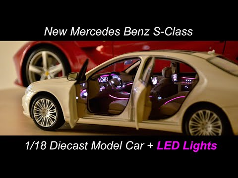 Exclusive Toy Mercedes S-Class Luxury Diecast 1/18 LED Ambient Light Maybach V222 W222 S63 S65 AMG