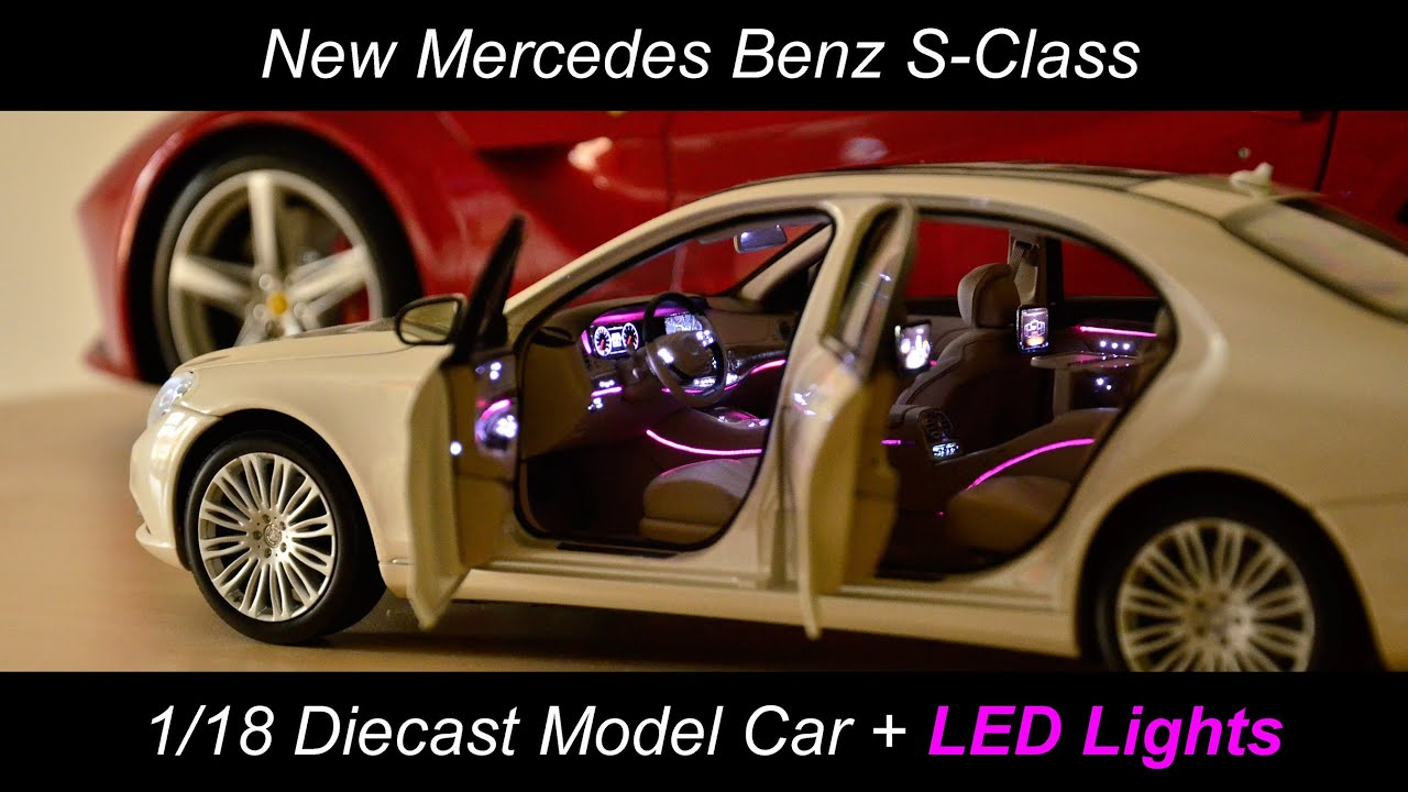 1 18 Diecast Led Car S Class Norev Mercedes Benz V222 W222
