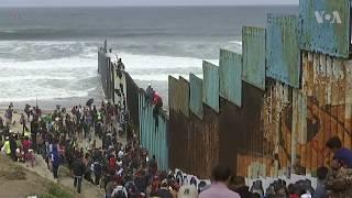 Caravan of Asylum Seekers Head to US Border Rally