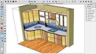 Проектирование кухни в пластике на компьютерах Apple