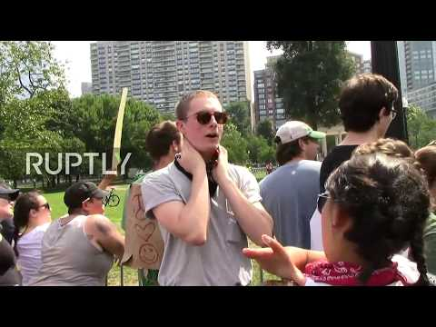 LIVE: Counter-protesters take a stand against a 'free speech' rally in Boston