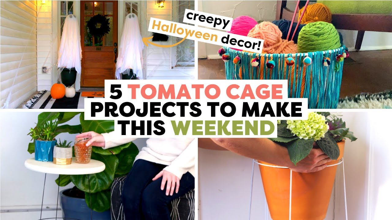 Tomato Cage Projects to Make This Weekend...Plus 1 Halloween DIY 👻 | DIY Tomato Cage Projects