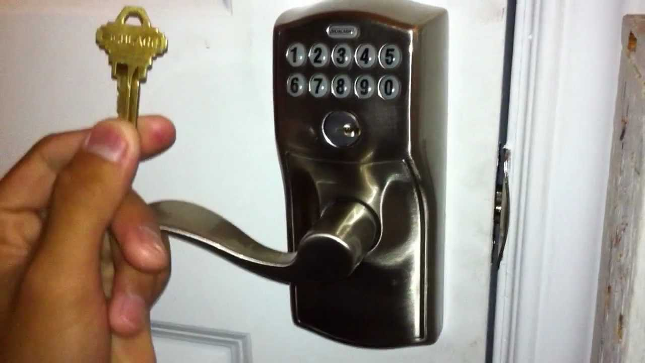 Lock Pick Key >> Lock Pick Gun: Schlage Electronic Keypad - YouTube