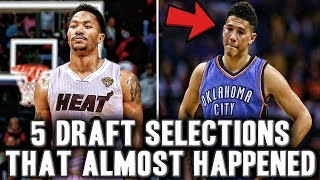 5 Crazy NBA Draft Selections That Almost Happened | Devin Booker Drafted By Thunder?