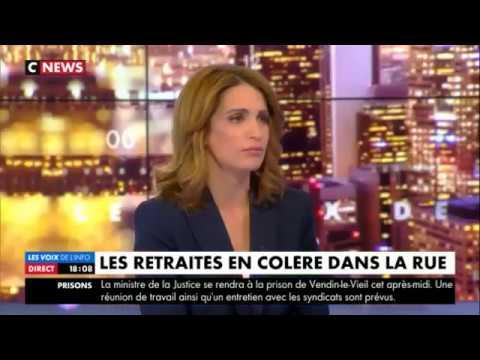 Marine Le Pen invitée des voix de l'info dézingue les medias  Jeudi 15 Mars 2018