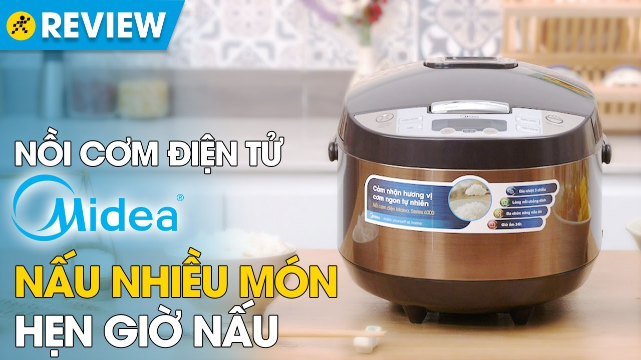 Nồi cơm điện tử Midea 1,8L: lòng nồi chống dính, nấu cơm nhanh chín (MB-FS5017) • Điện máy XANH