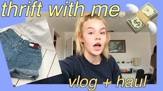 thrift with me, vlog + haul ☆