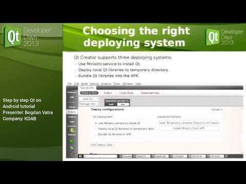 QtDD13 - Bogdan Vatra - Step by step Qt on Android tutorial
