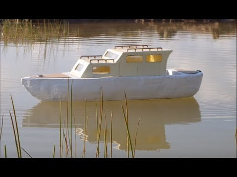 Using building materials for homemade rc boat hulls. - YouTube