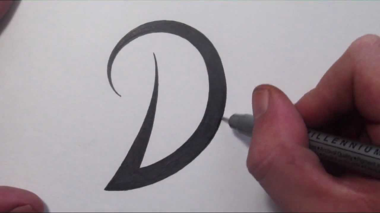 How To Draw A Simple Tribal Letter D Youtube