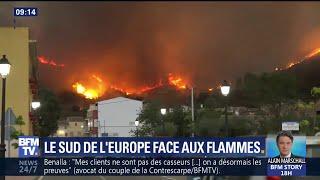 Le Portugal et l'Espagne font face aux incendies