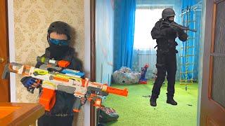 Nerf War Game SWAT vs SWAT Nerf  нерф игра