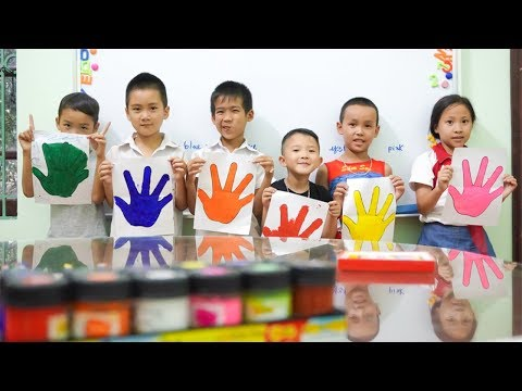 Kids go to School Learn Colors Pain Hand   KIDS go Shopping for CARS TOYS Song for Children