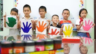 Kids go to School Learn Colors Pain Hand | KIDS go Shopping for CARS TOYS Song for Children