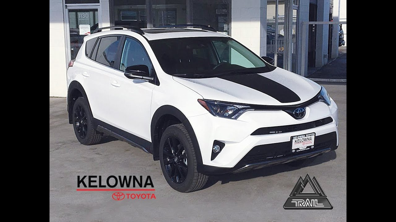 2018 Toyota Rav4 Trail Edition White Youtube