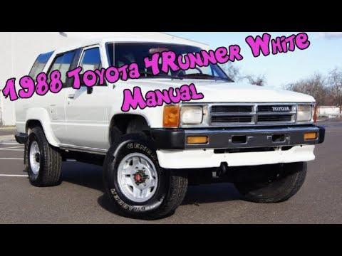 1988 toyota 4runner sr5 v6 4x4 5-speed manual youtube.