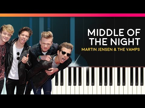 """""""Middle Of The Night"""" Piano Tutorial & Lyrics - Chords - How To Play - Cover"""