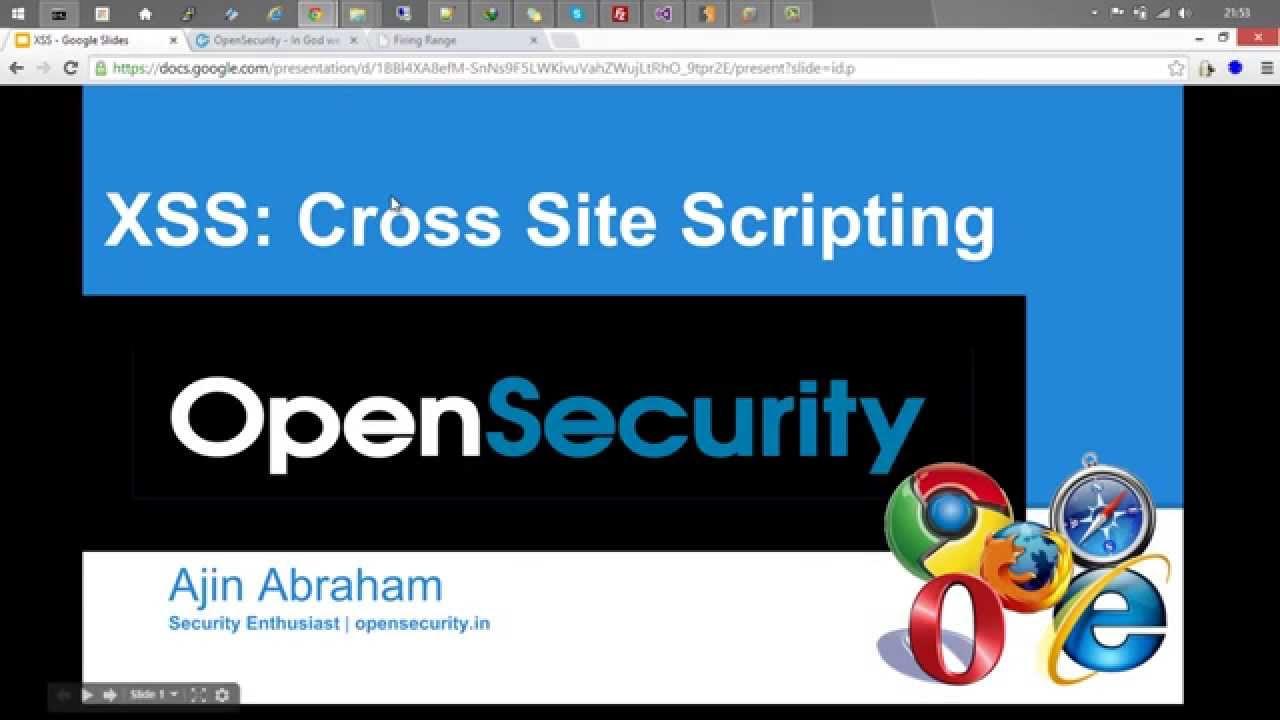Cross site scripting xss attacks for pentesters