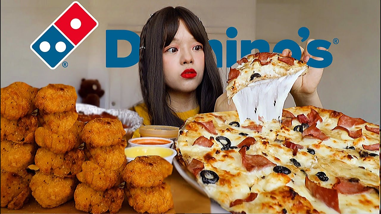 🍕FIRST TIME TRYING DOMINOS PIZZA, FRIED CHICKEN, PASTA (after 72 hours of no eating) 아이유  다이어트는 끝 먹방