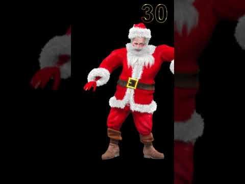 Santa Claus Dancing - Merry Xmas 2020 Timer #Shorts