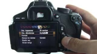 3 Canon EOS 600D Çekim Ayarları