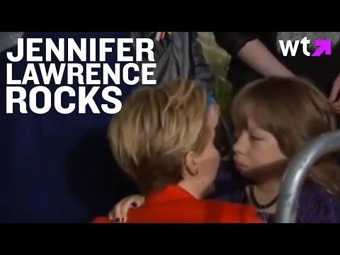 Jennifer Lawrence Hugs Fan at Catching Fire Premiere | Best of the Rest