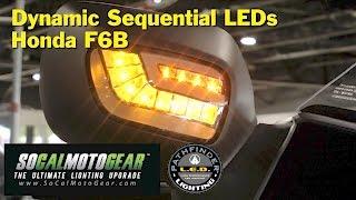 install dynamic sequential led turn signal drls on honda f6b