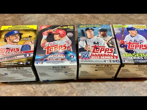 OPENING THE LAST FOUR TOPPS SERIES 1 BLASTERS 2017 To 2020 (Face Off Friday)