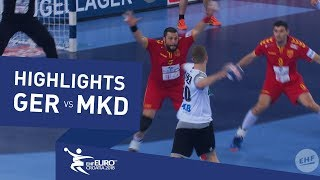 Highlights | Germany vs FYR Macedonia | Men's EHF EURO 2018