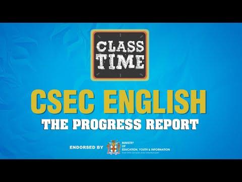 CSEC English - The Progress Report – March 26 2021