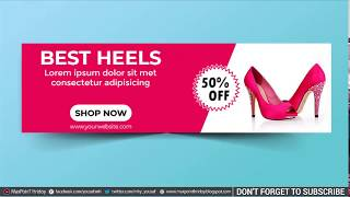 How to Make a Web Banner Design in Photoshop With  GIF Animation- #Maxpoint-Hridoy