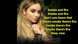 Sabrina Carpenter – Smoke and Fire (lyrics) – NEW SINGLE- Cover