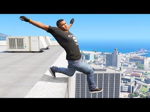 Download GTA 5 Jumping off Highest Buildings #11 - GTA V Funny Moments & Fails