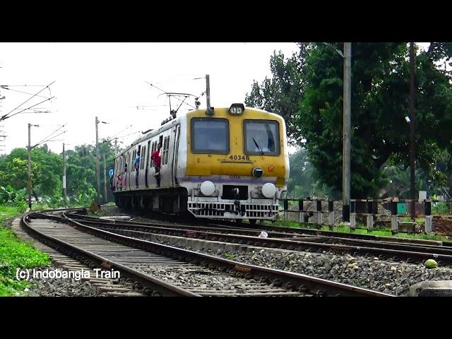 Full Hd) Barasat Local Train is Entering Dum Dum Cantonment Railway