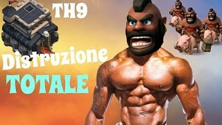 Clash of Clans - COME FARE 3 STELLE CON DOMATORI TUTORIAL \ GoHog Th9 TOP STRATEGY