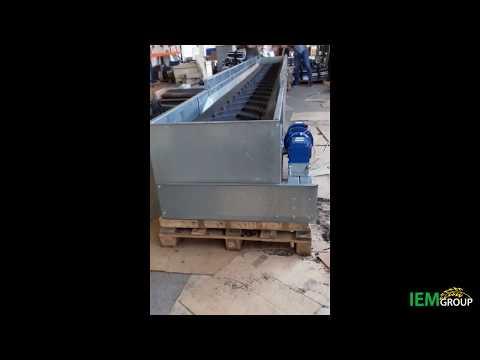 Лотковый модульный транспортер с шевронной лентой