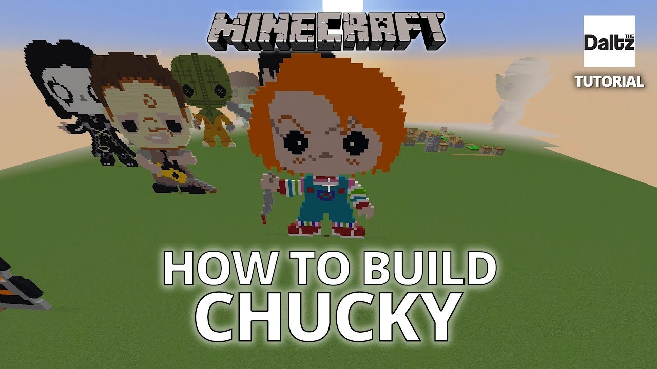 How To Make A Chucky Funko Pop Pixel Art In Minecraft YouTube
