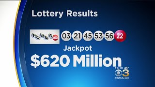 Winning Numbers Drawn For $620 Million Powerball Jackpot