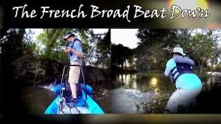 The French Broad Beat Down - Kayak Bass Fishing with Brandon Card and Scott Heptinstall
