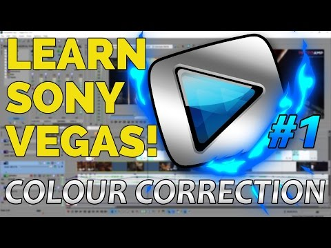 How To Edit In Sony Vegas Pro 13 For Beginners | #1: Best Colour Correction Settings