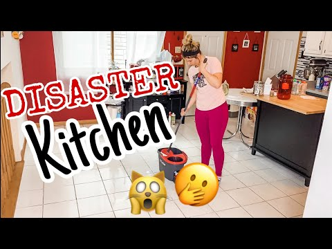 SATISFYING Disaster Kitchen TOTAL CLEAN | Bonus: How to Clean My Keurig Coffee Maker!