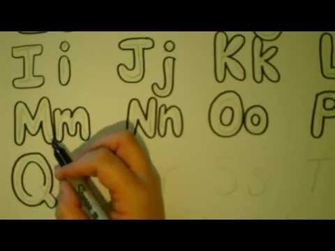 Lets Draw Bubble Letters Bubble Letter Alphabet Tutorial Adding Color