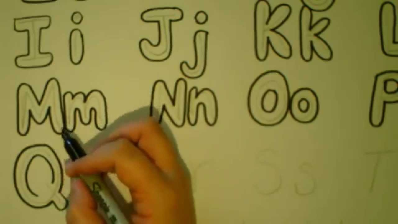 lets draw bubble letters bubble letter alphabet tutorialadding color youtube
