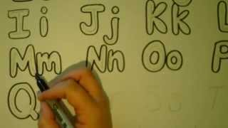 Lets draw bubble letters Bubble Letter Alphabet Tutorial/Adding Color