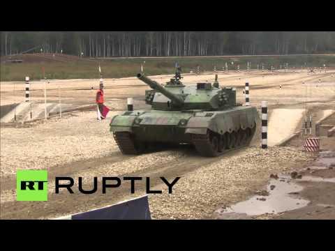 Russia: Tank Biathlon crown Russia world champions