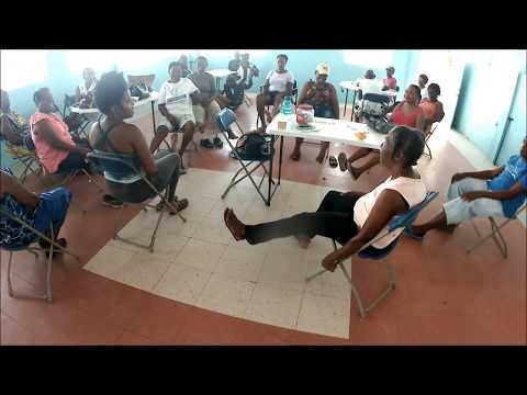 Mon Repos Adult Day Program | Senior Chair Yoga in creole