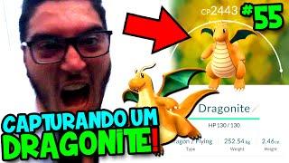 POKÉMON GO #55 - CORRI UM PARQUE INTEIRO E CAPTUREI O PRIMEIRO DRAGONITE ?!
