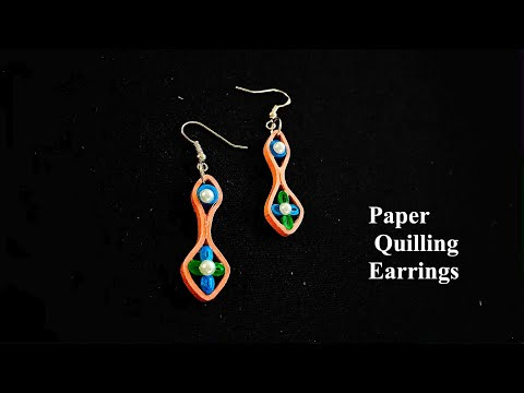 diy paper quilling earrings/simple and easy quilling earrings/quilled jewellery