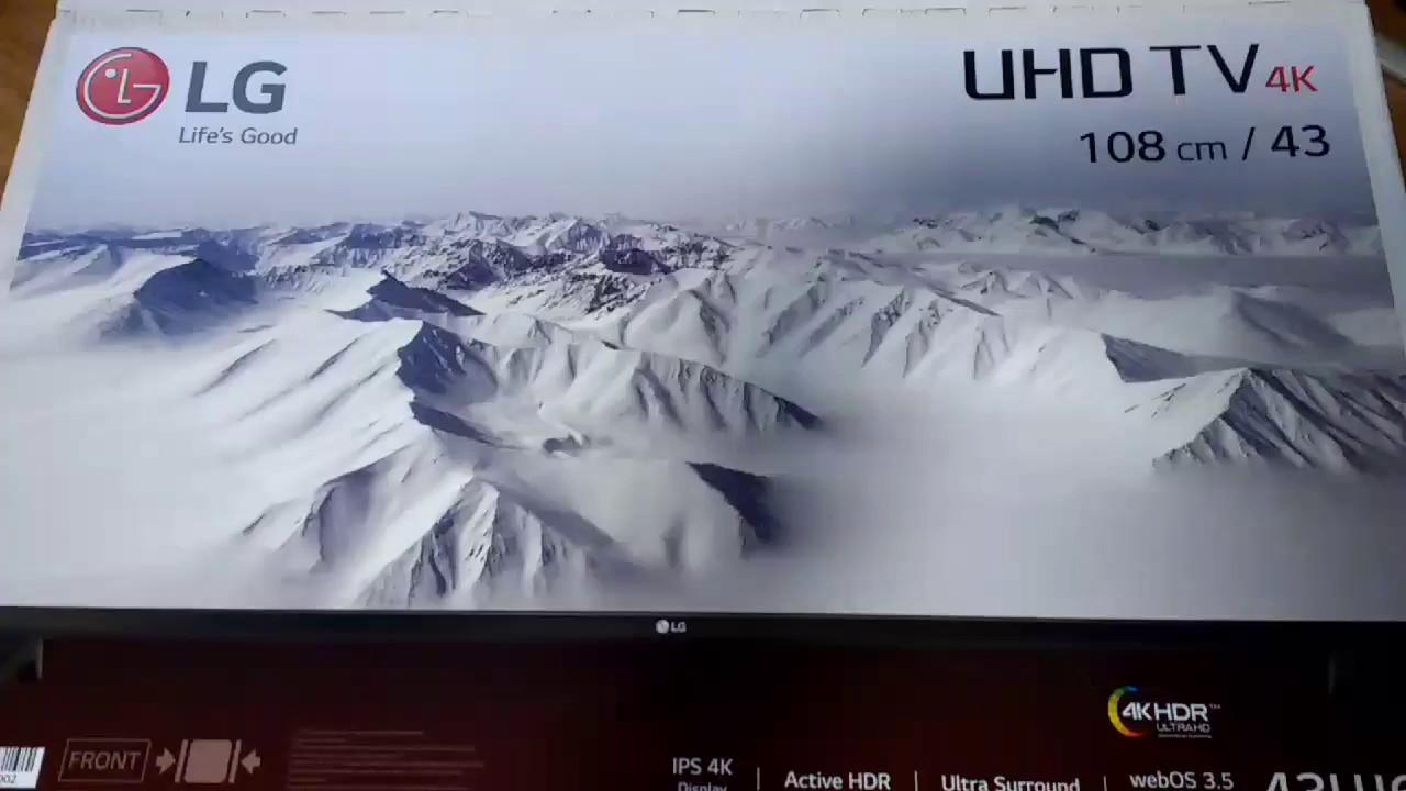 lg 70uj6570. lg - 4k ultra hd tv (43uj630v model) -unboxing and setting up lg 70uj6570
