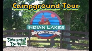 Indian Lakes RV Resort, Bateṡville IN Tour (Thousand Trails)